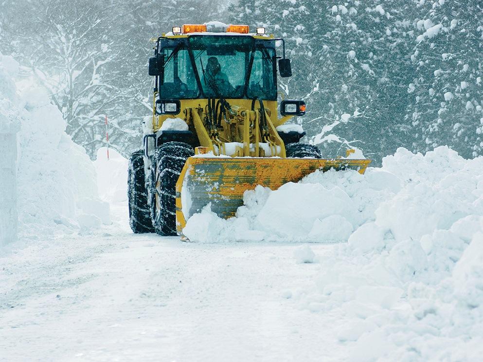 Лопата для уборки снега со шнеком forte
